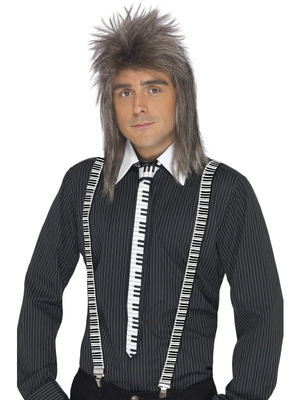 piano keyboard tie and braces - 38769