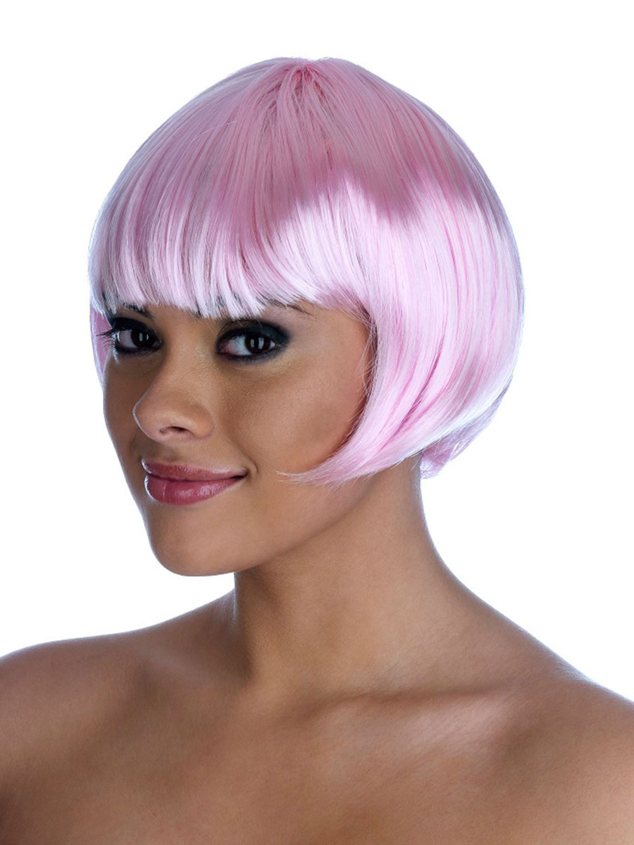 home wigs beards moustaches ladies glamour wigs pink bob wig