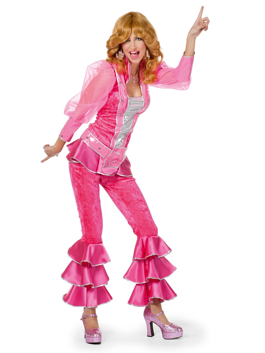adult pink mamma mia costume 4147a fancy dress ball. Black Bedroom Furniture Sets. Home Design Ideas