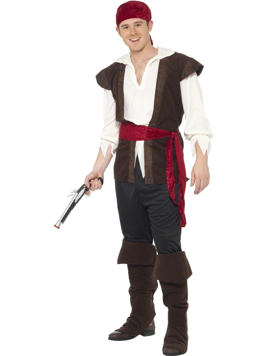 Adult Mens Pirate Costume  sc 1 st  Fancy Dress Ball & Adult Mens Pirate Costume - 20469 - Fancy Dress Ball