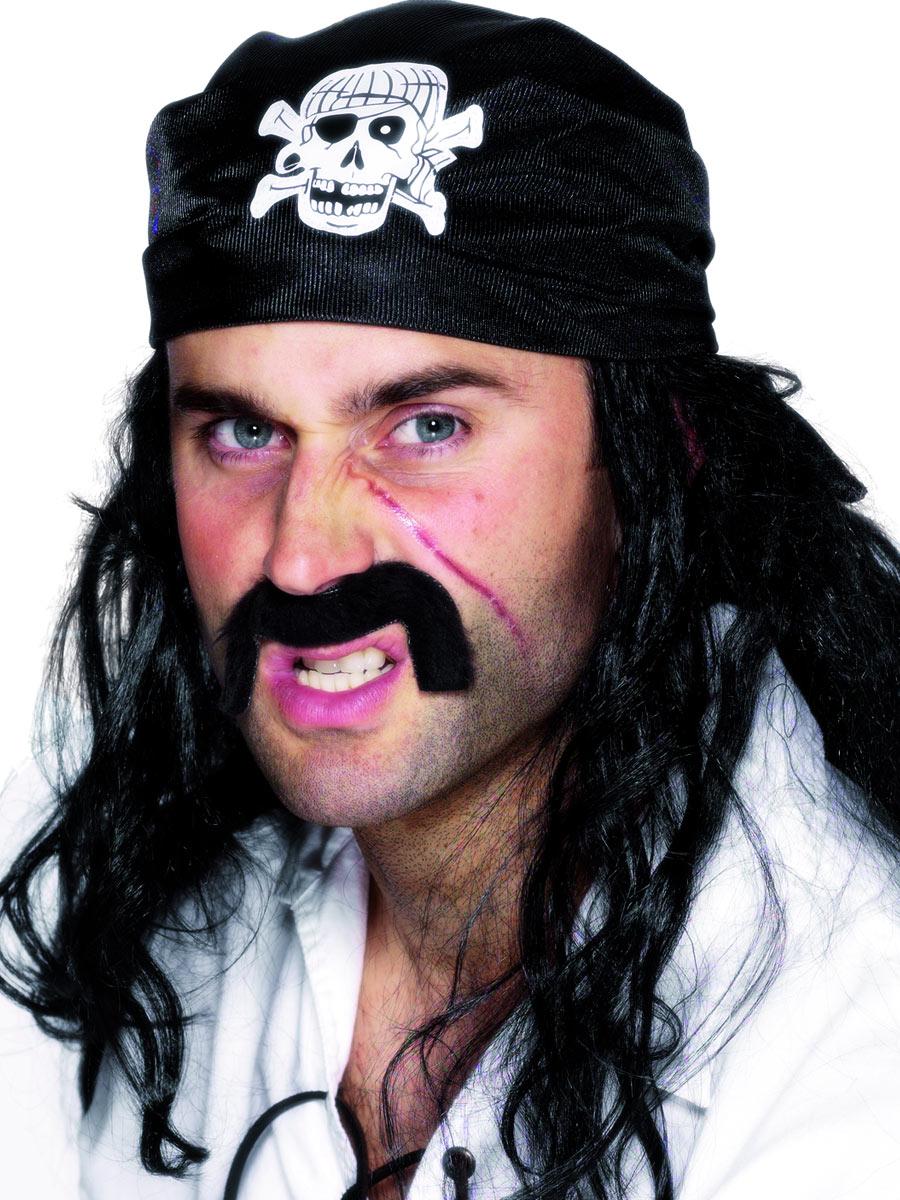 Pirates Bandana Black 25590 Fancy Dress Ball