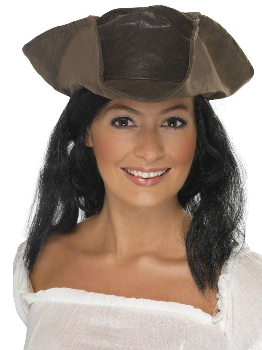 Pirates Hat Brown Leather Look - 25530
