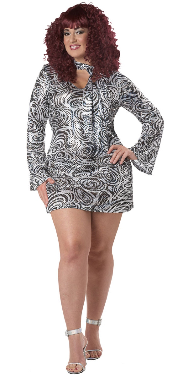 Adult Plus Size Disco Diva Costume - 01660 - Fancy Dress Ball