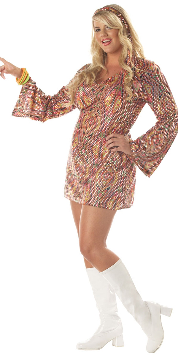 70 s party clothes adult plus size 70 s disco dolly costume   01683