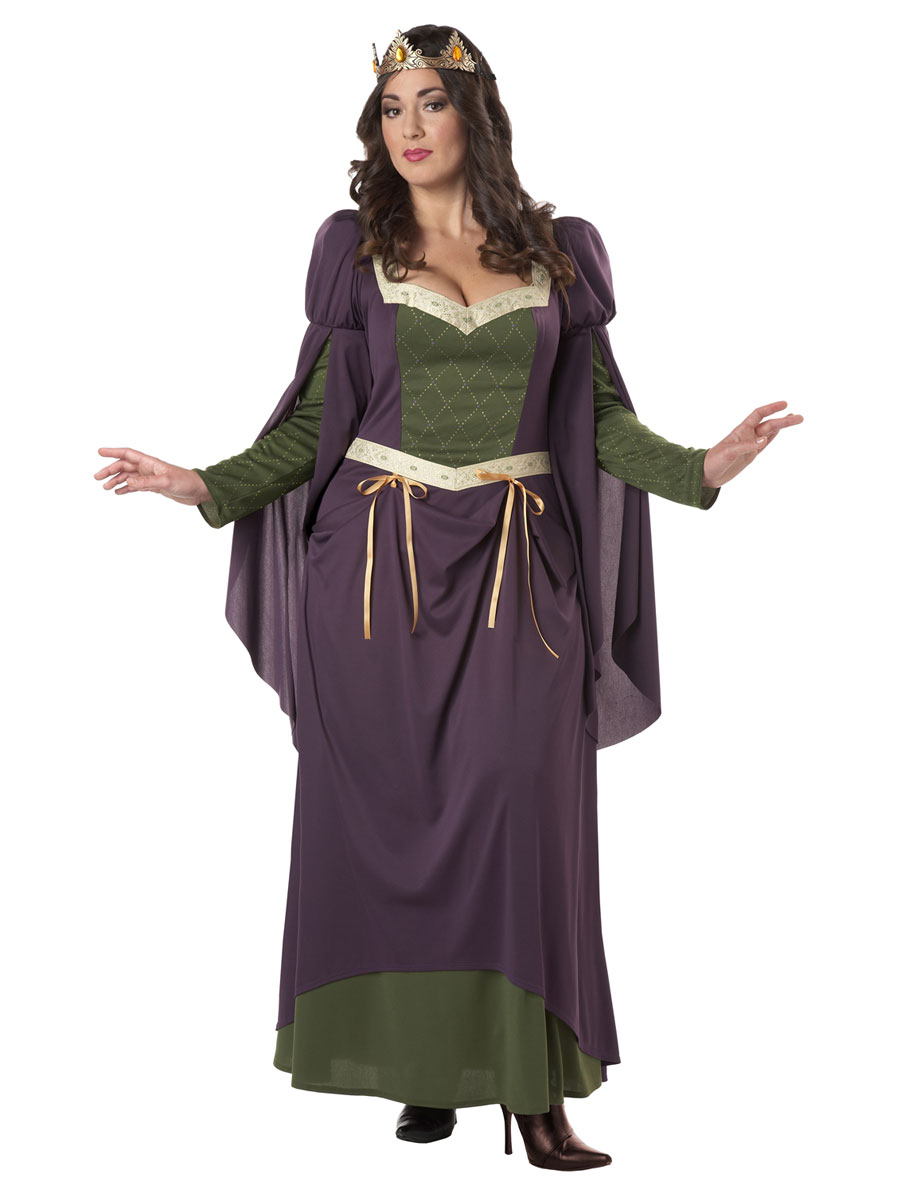 Ladies medieval fancy dress plus size