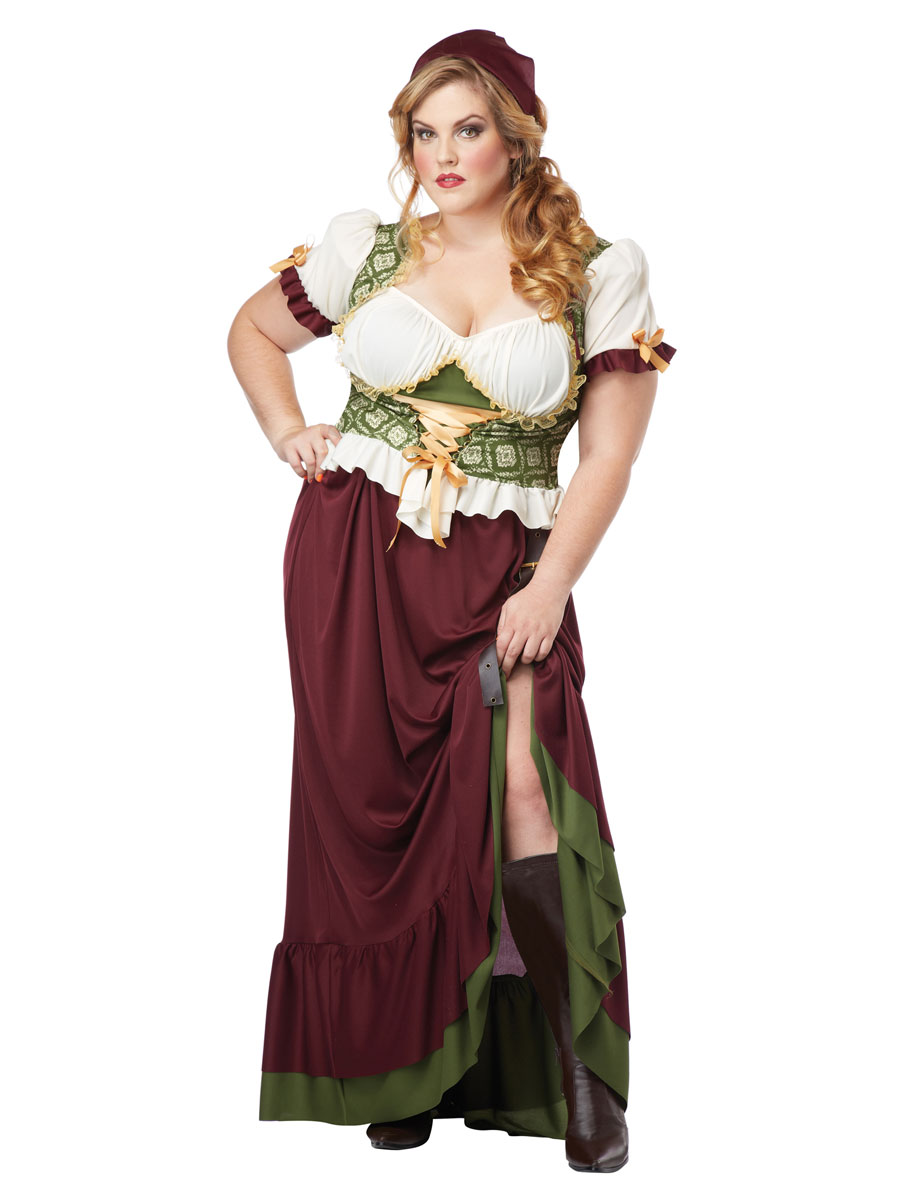 Adult Plus Size Renaissance Wench Costume  sc 1 st  Fancy Dress Ball & Adult Plus Size Renaissance Wench Costume - 01705 - Fancy Dress Ball