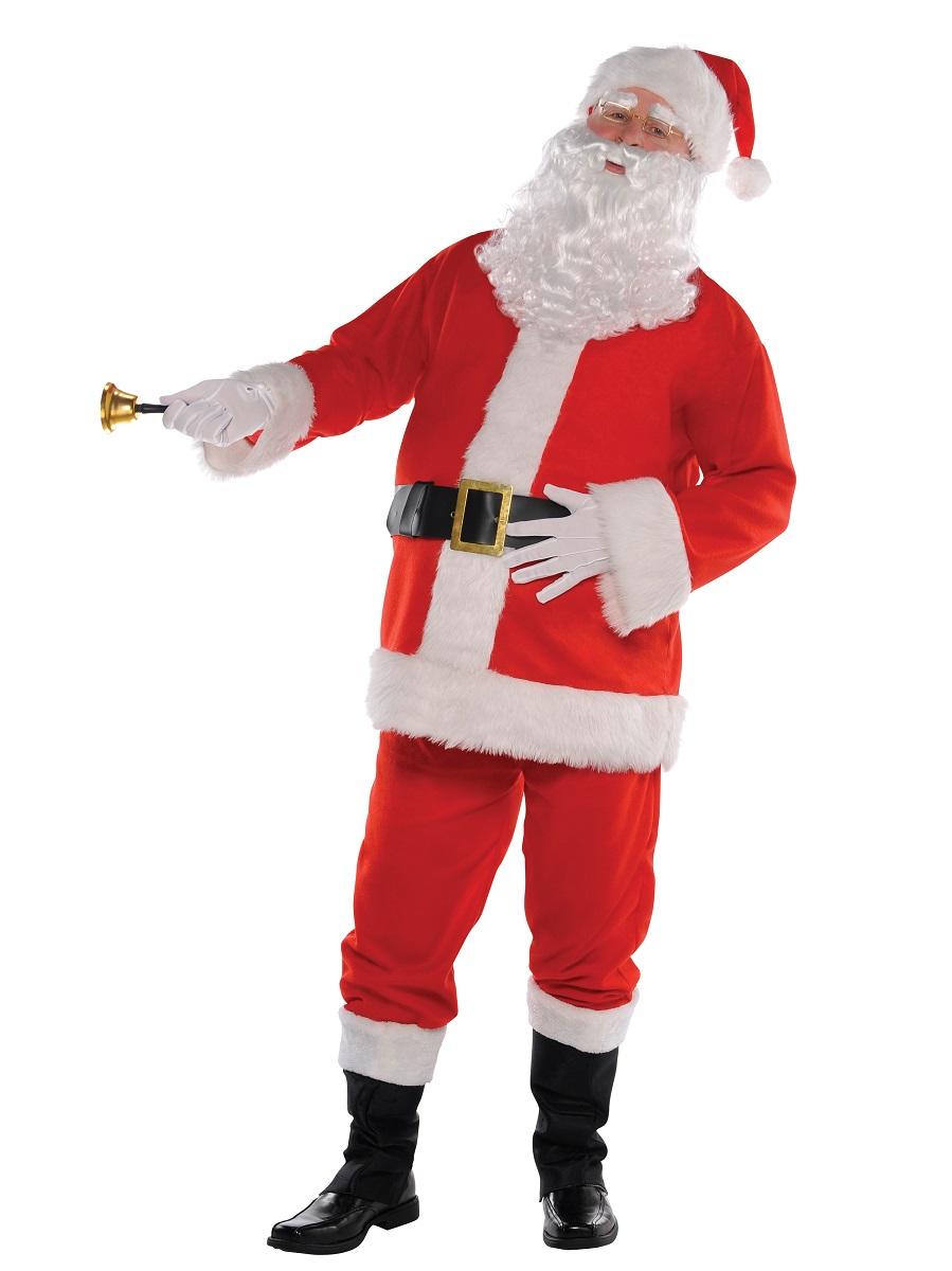 Plush santa suit costume fancy dress ball