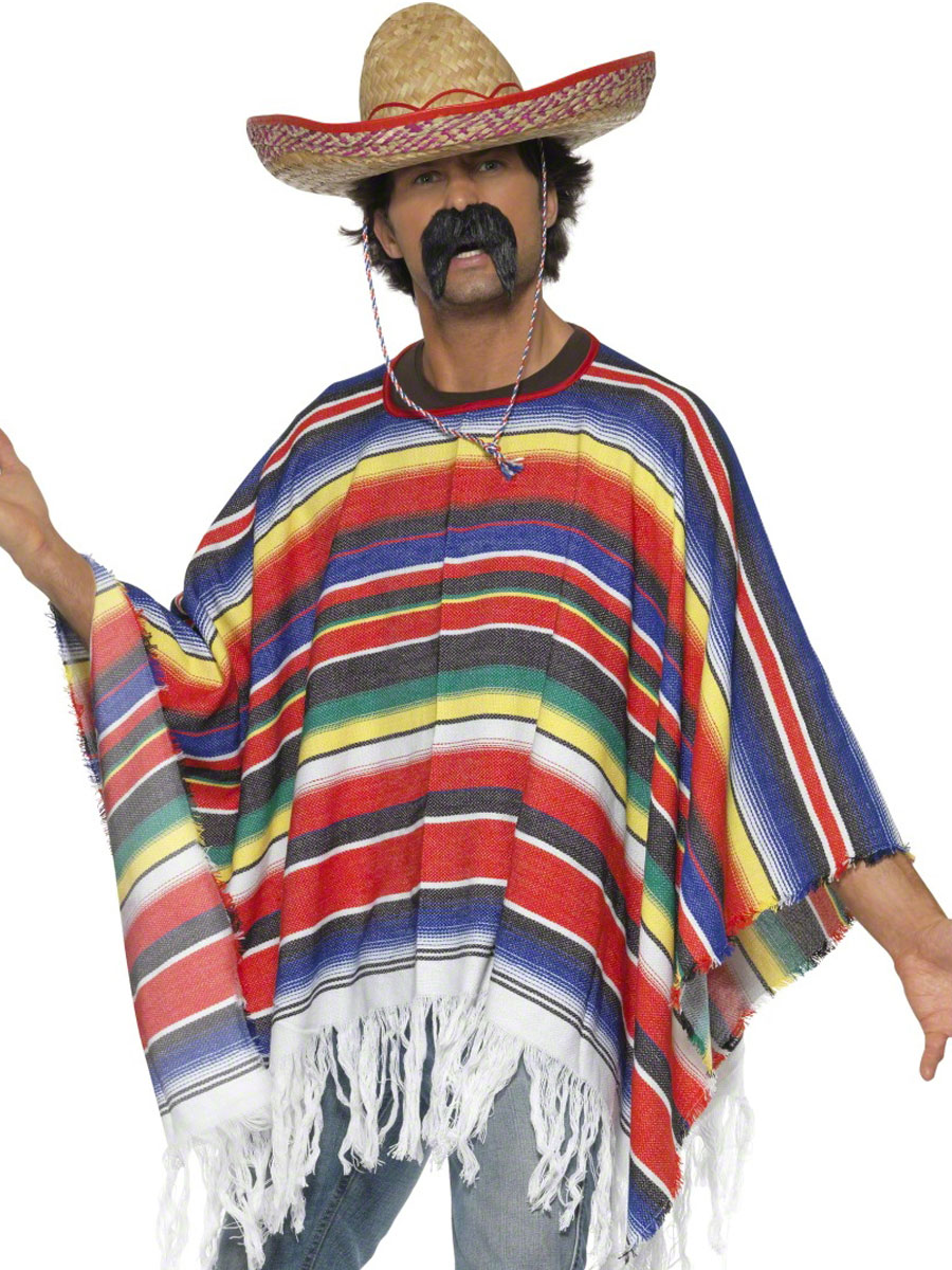 Adult Mexican Poncho - 21860 - Fancy Dress Ball bcc074552a8e