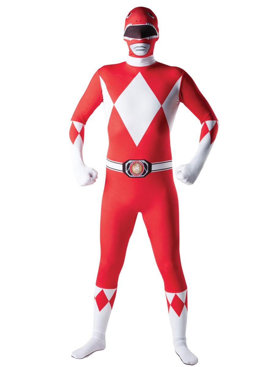 adult power ranger red ranger second skin costume 887102. Black Bedroom Furniture Sets. Home Design Ideas