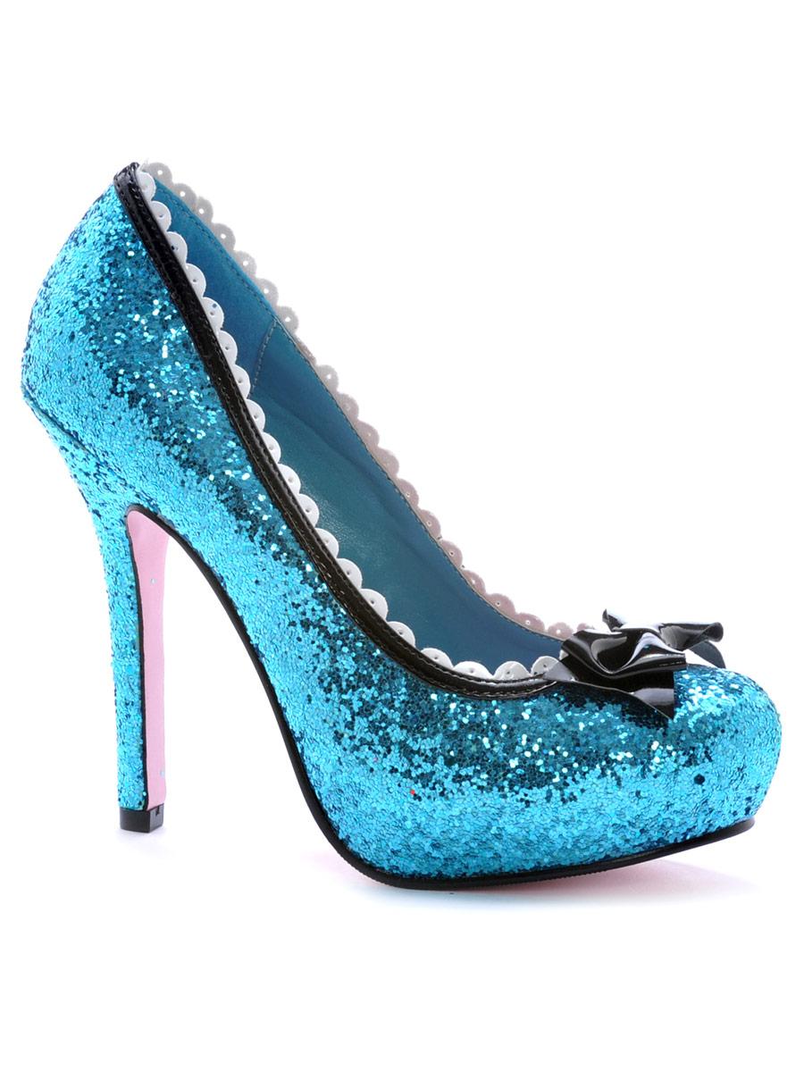 Home > Shoes > Ladies Shoes > Princess Blue Glitter Pump Shoe