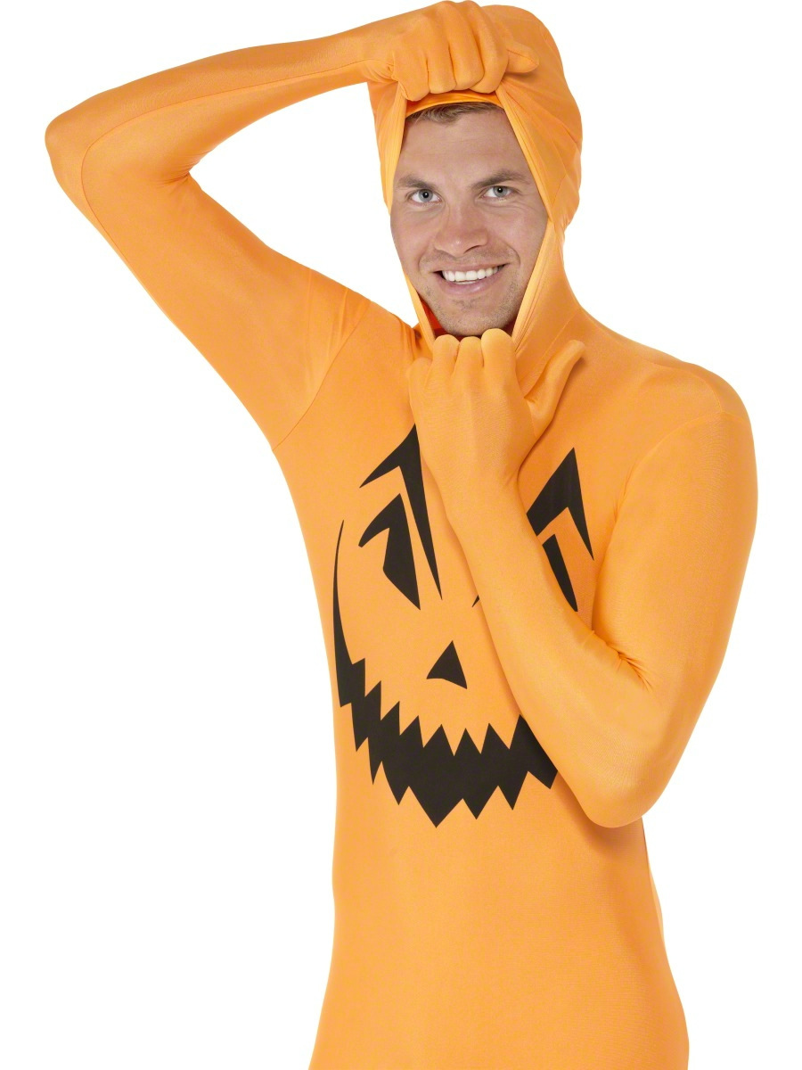 Adult Pumpkin Second Skin Costume 24614 Fancy Dress Ball