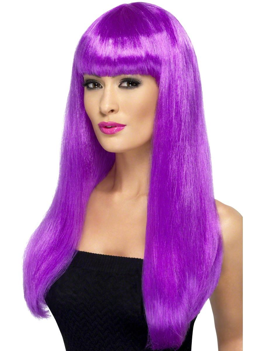 Purple babelicious wig 42424 fancy dress ball