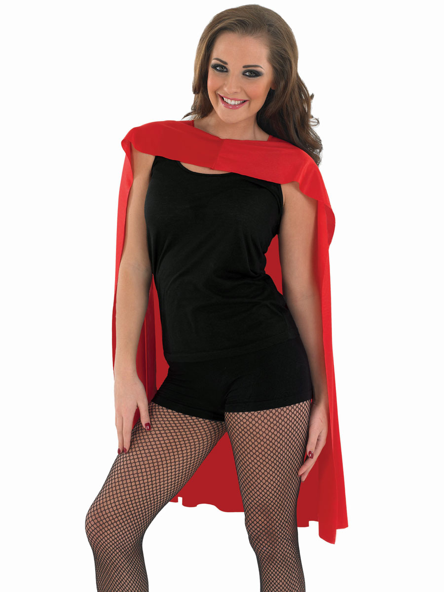 4c29d2a31 Adult Ladies Red Super Hero Cape - FS3557 - Fancy Dress Ball