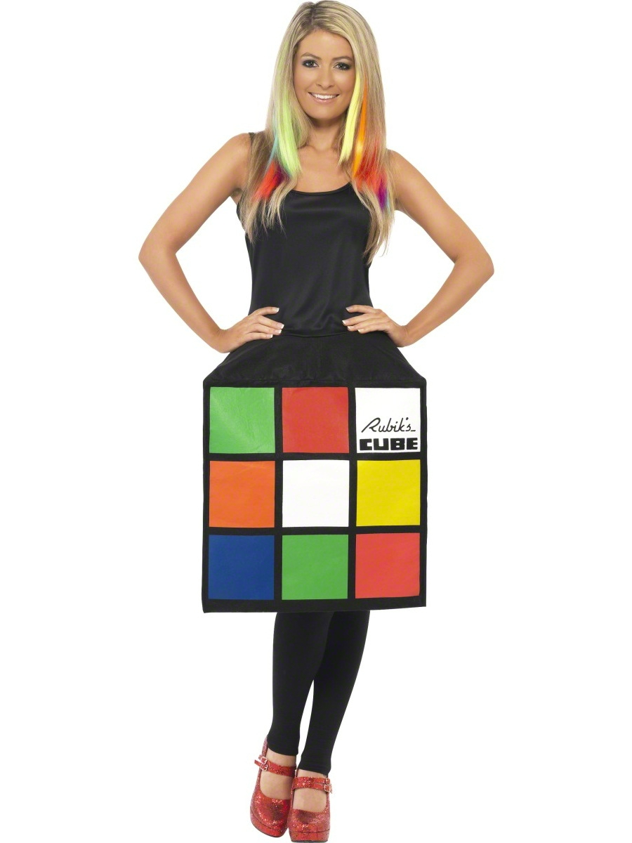 adult rubik 39 s cube costume 39170 fancy dress ball. Black Bedroom Furniture Sets. Home Design Ideas