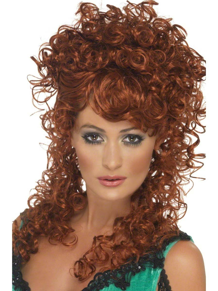 Saloon Girl Auburn Wig 42243 Fancy Dress Ball
