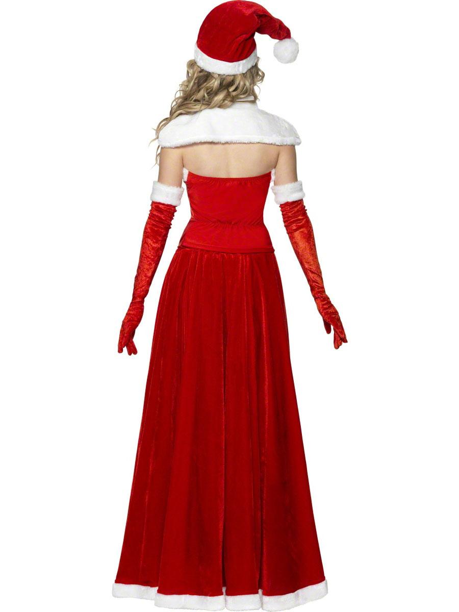 Adult santa long skirt costume 36985 fancy dress ball for Robes de noel uk