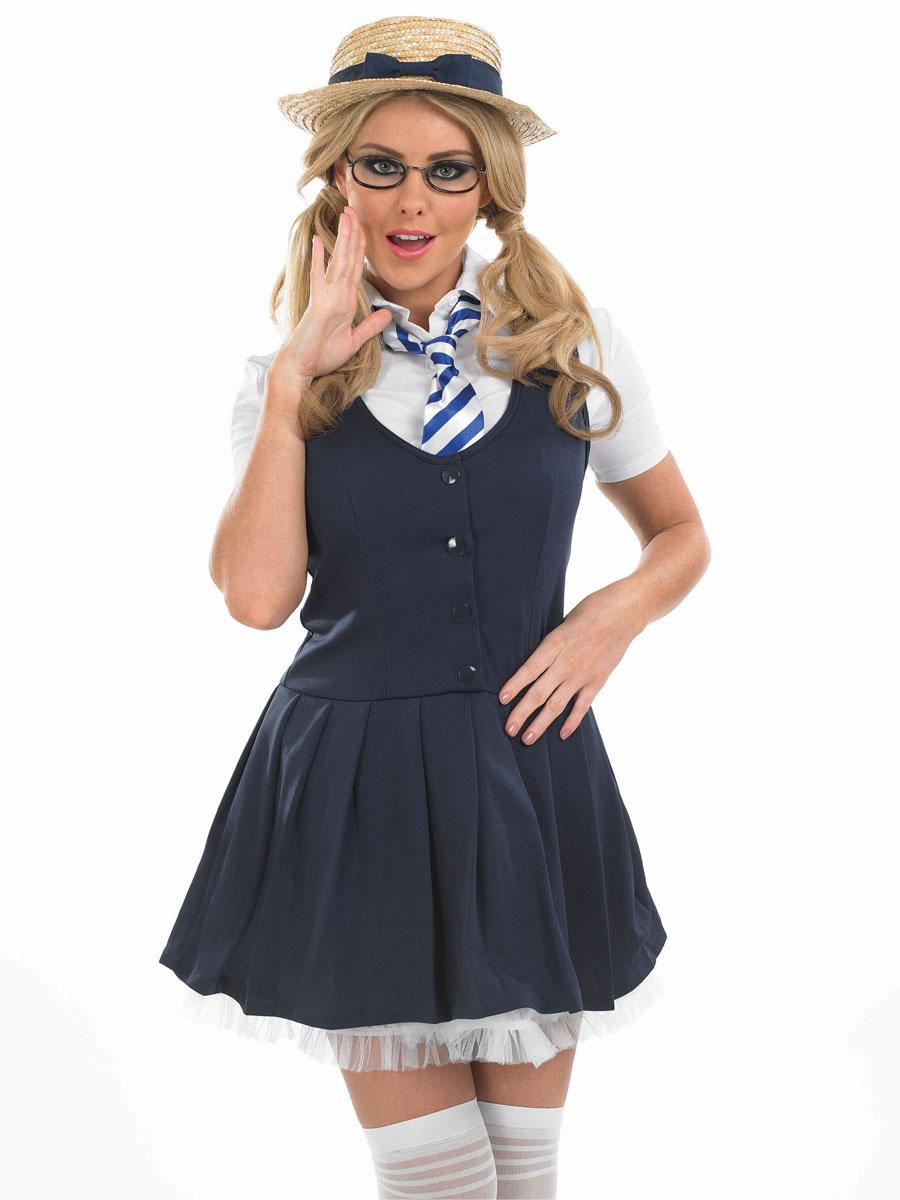 Adult School Girl Tutu Costume - FS3272 - Fancy Dress Ball
