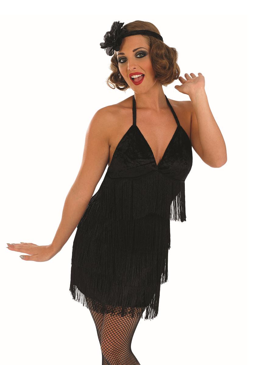Adult Sexy Black Flapper Costume - FS3616 - Fancy Dress Ball