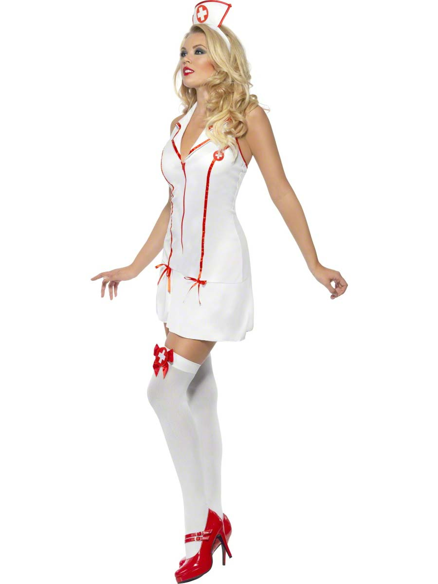 Adult Sexy Nurses Costume 28064 Fancy Dress Ball