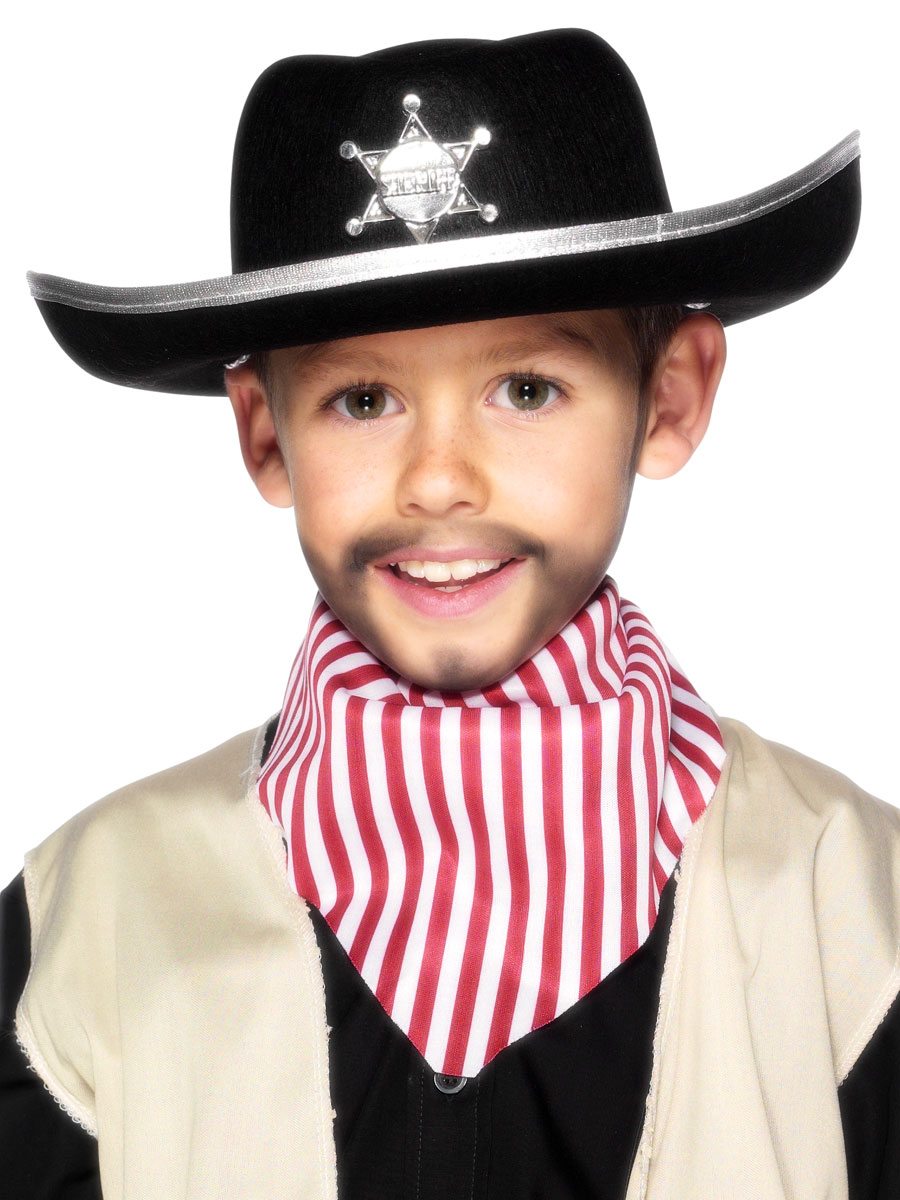 Sheriffs Childrens Hat Black Felt 99729 Fancy Dress Ball