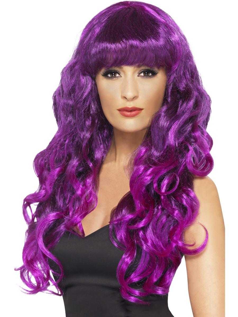 Adult Purple Amp Black Siren Wig 42266 Fancy Dress Ball