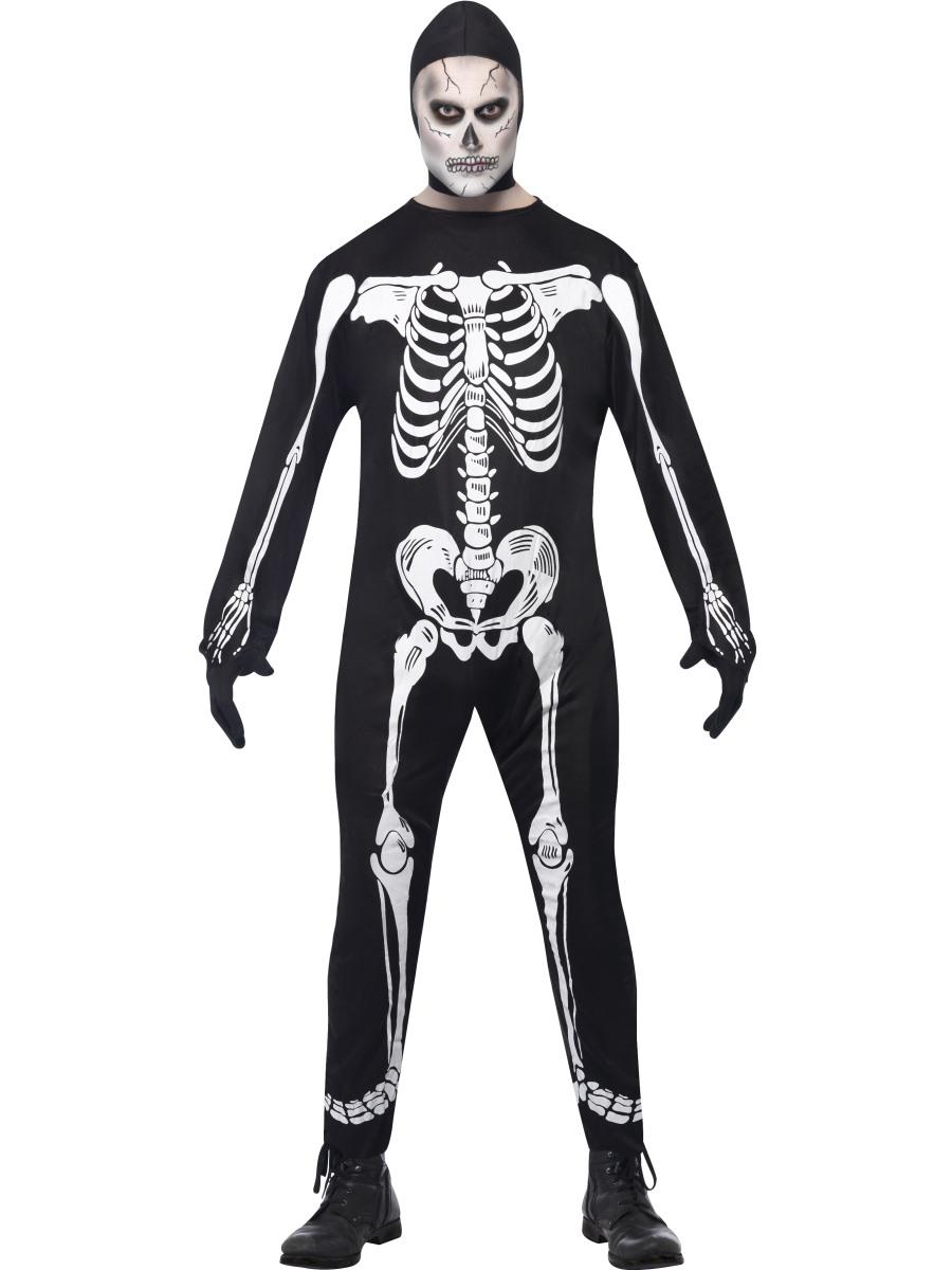 Skeleton Outfit Halloween.Adult Skeleton Costume