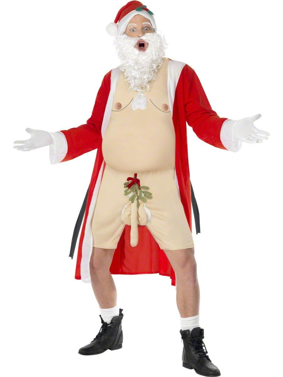 Sleazy Santa Costume Mens Bad Funny Naughty Father Christmas ...