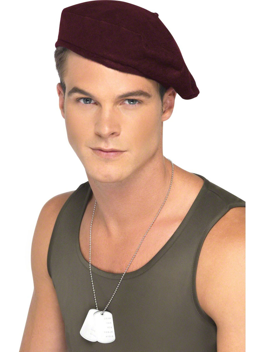 Soldiers Red Beret - 35465 - Fancy Dress Ball 3c3e6701054
