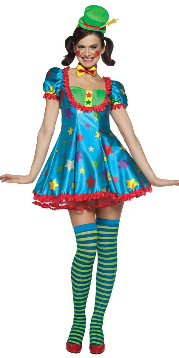 Star Clown Adult Female Costume