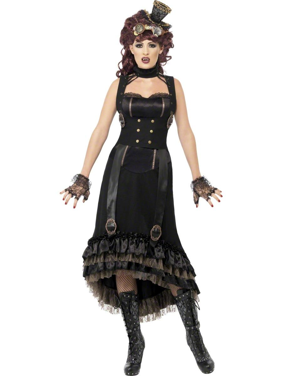 adult steam punk vamp costume 24493 fancy dress ball. Black Bedroom Furniture Sets. Home Design Ideas
