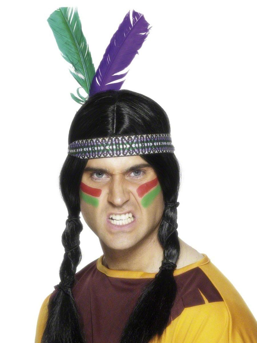 Головной убор индейца с перьями своими руками