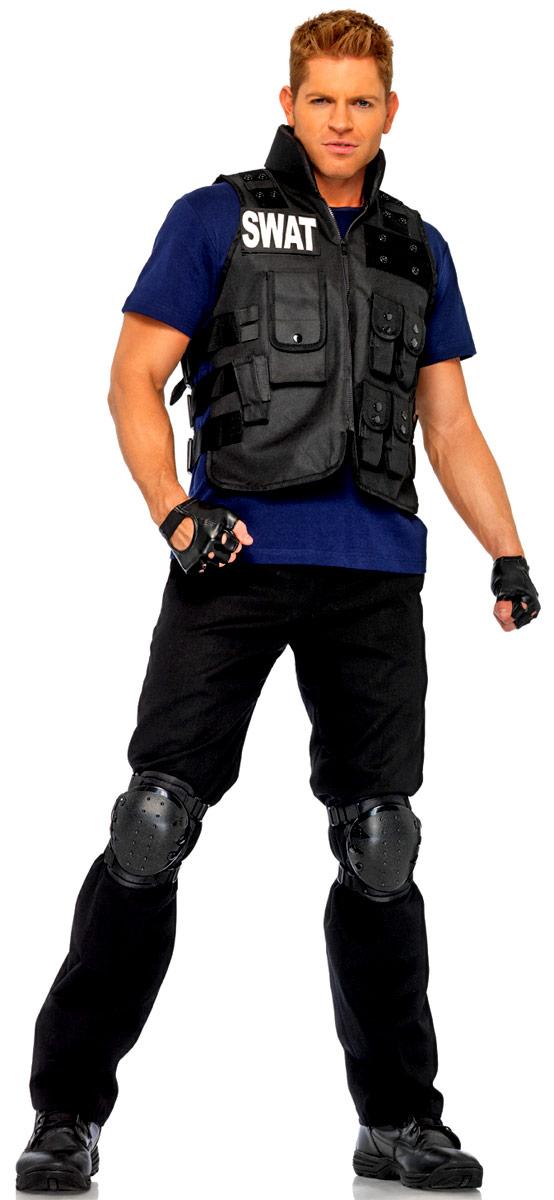 Adult Deluxe SWAT Commander Costume - 83682 - Fancy Dress Ball 2b74a4e55306