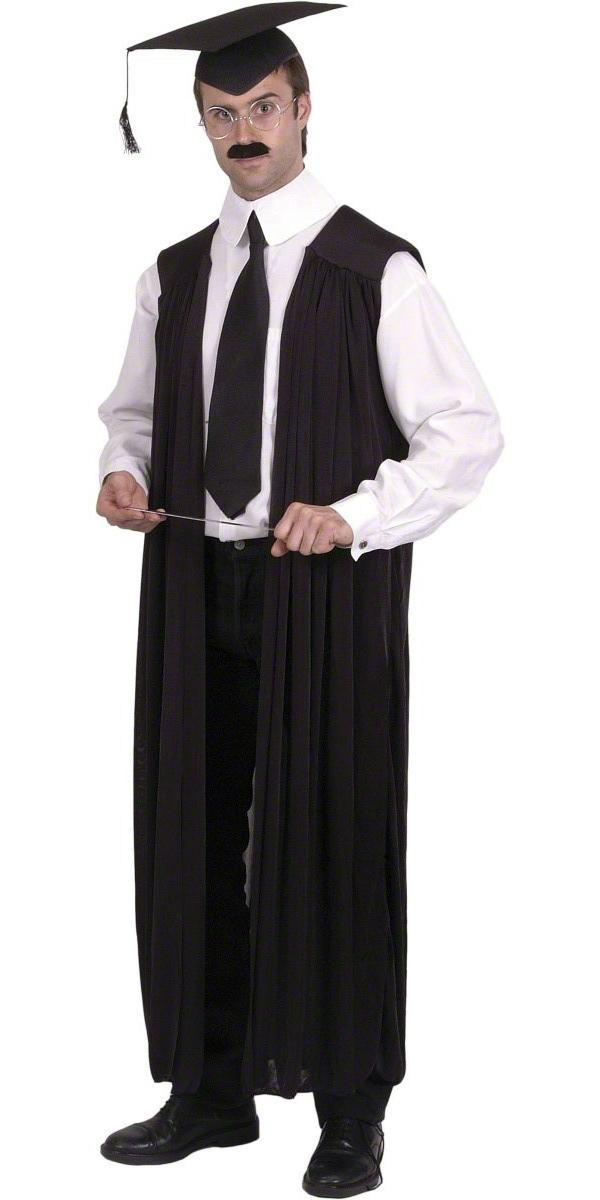 Teachers Gown Black - 21486 - Fancy Dress Ball