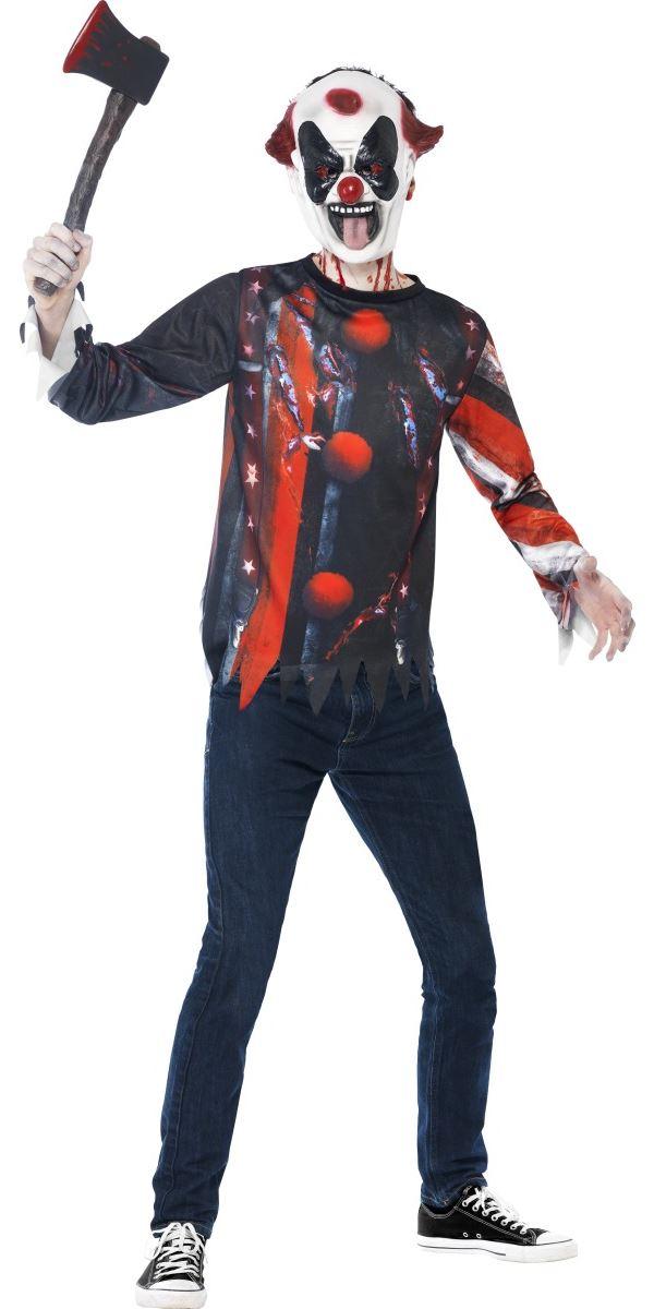 Teen Skeleton Sinister Creepy Clown Kit 44344 Fancy