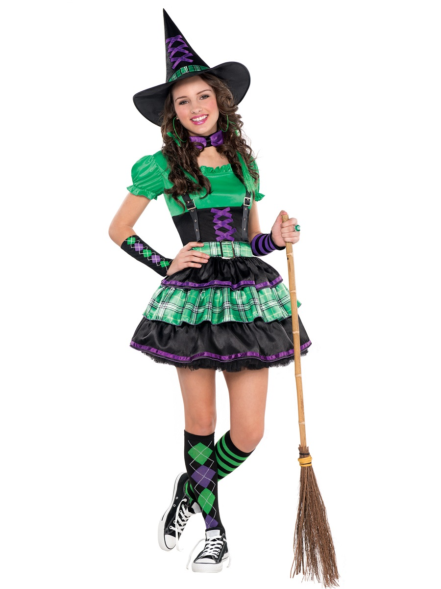 Teen Wicked Cool Witch Costume  sc 1 st  Fancy Dress Ball : cool teenage halloween costumes  - Germanpascual.Com