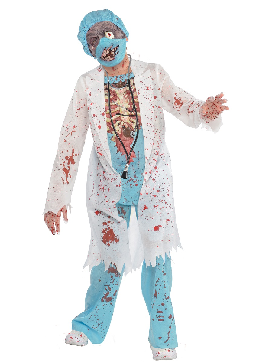 New Zombie Surgeon Lady Costume with Mask
