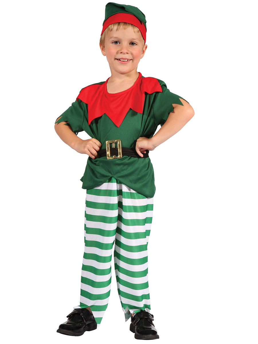 Christmas Fancy Dress Kids.Toddler Boys Santas Little Helper Costume