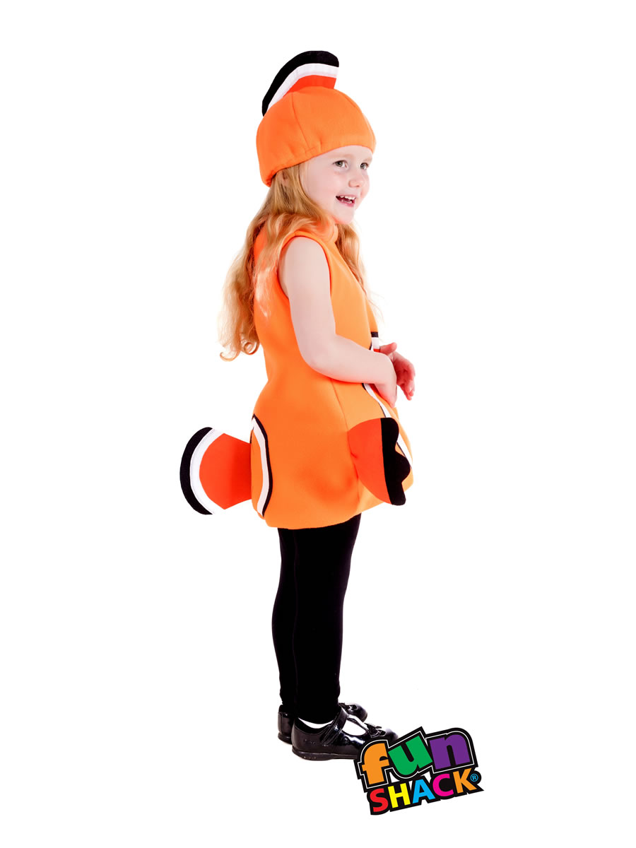 Toddler clown fish costume fs4482 fancy dress ball for Clown fish costume