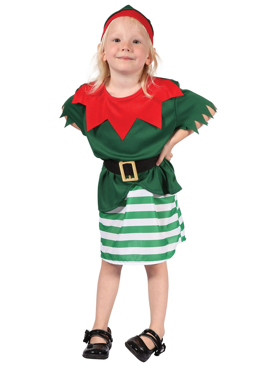 Child Toddler Girl Santas Little Helper Costume Cc073