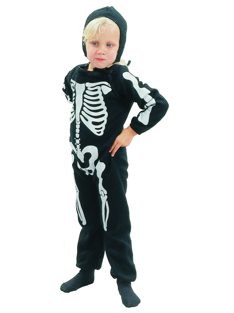 Toddler Skeleton Boy Costume Cc041 Fancy Dress Ball