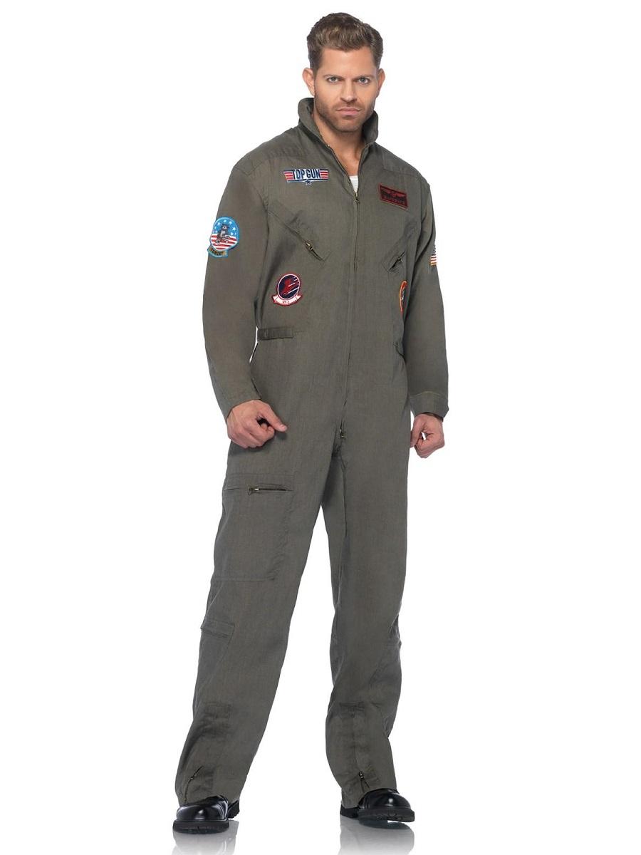 Adult Deluxe Top Gun Flight Suit - TG83702 - Fancy Dress Ball