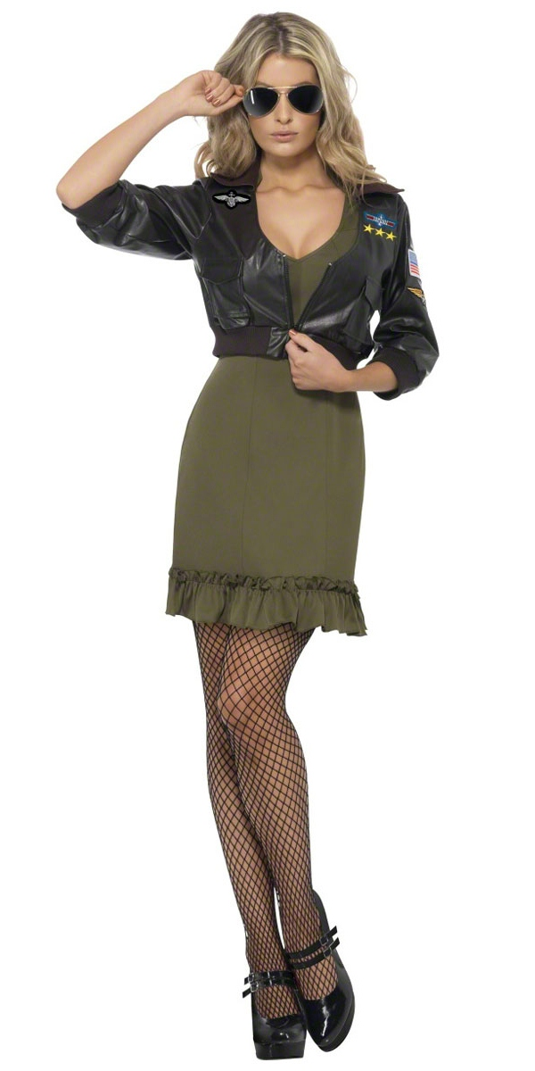 Adult Top Gun Officer Costume 39449 Fancy Dress Ball