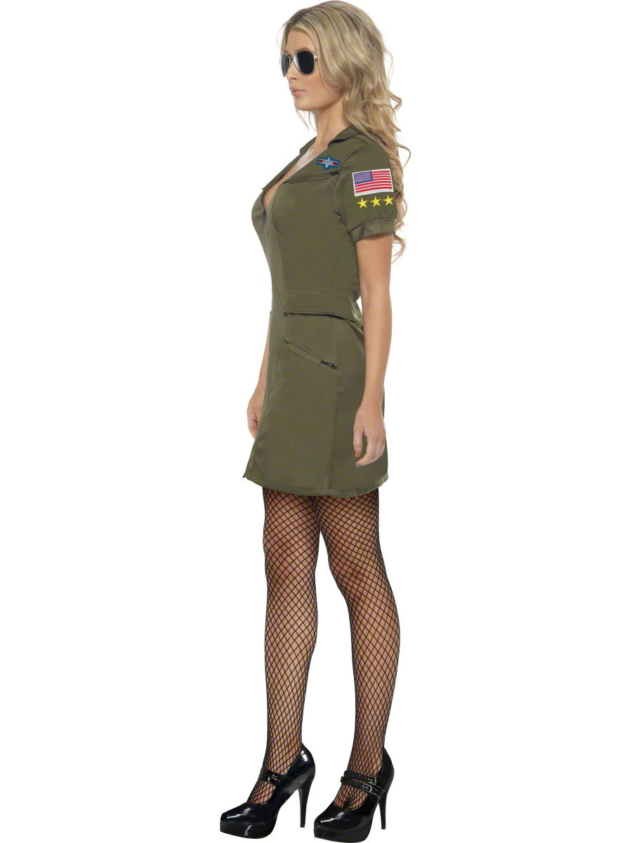 adult top gun officer costume 39450 fancy dress ball. Black Bedroom Furniture Sets. Home Design Ideas