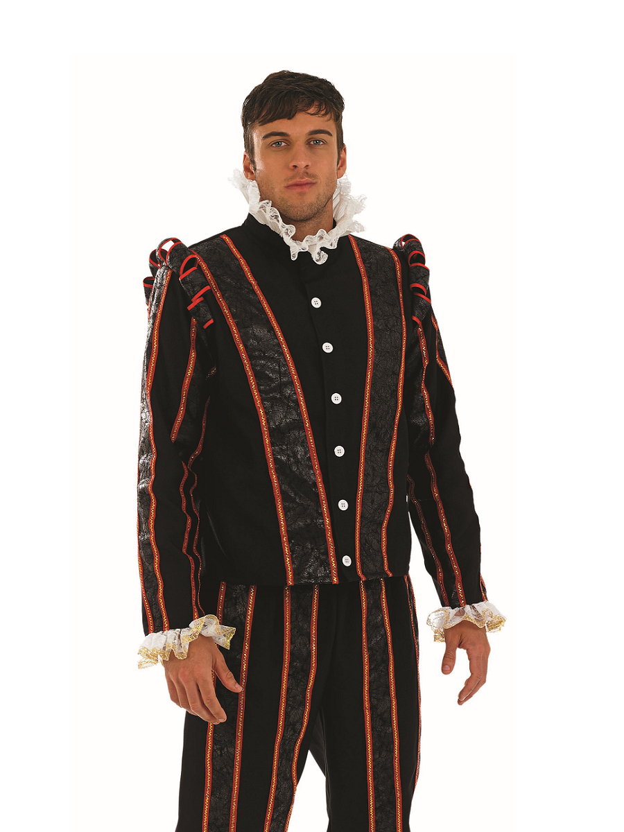Adult Blackadder Tudor Costume Fs3580 Fancy Dress Ball