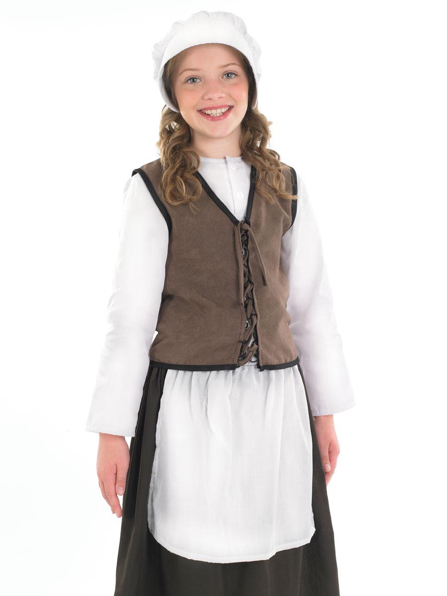 Child tudor kitchen girl costume fs3460 fancy dress ball view full image solutioingenieria Images