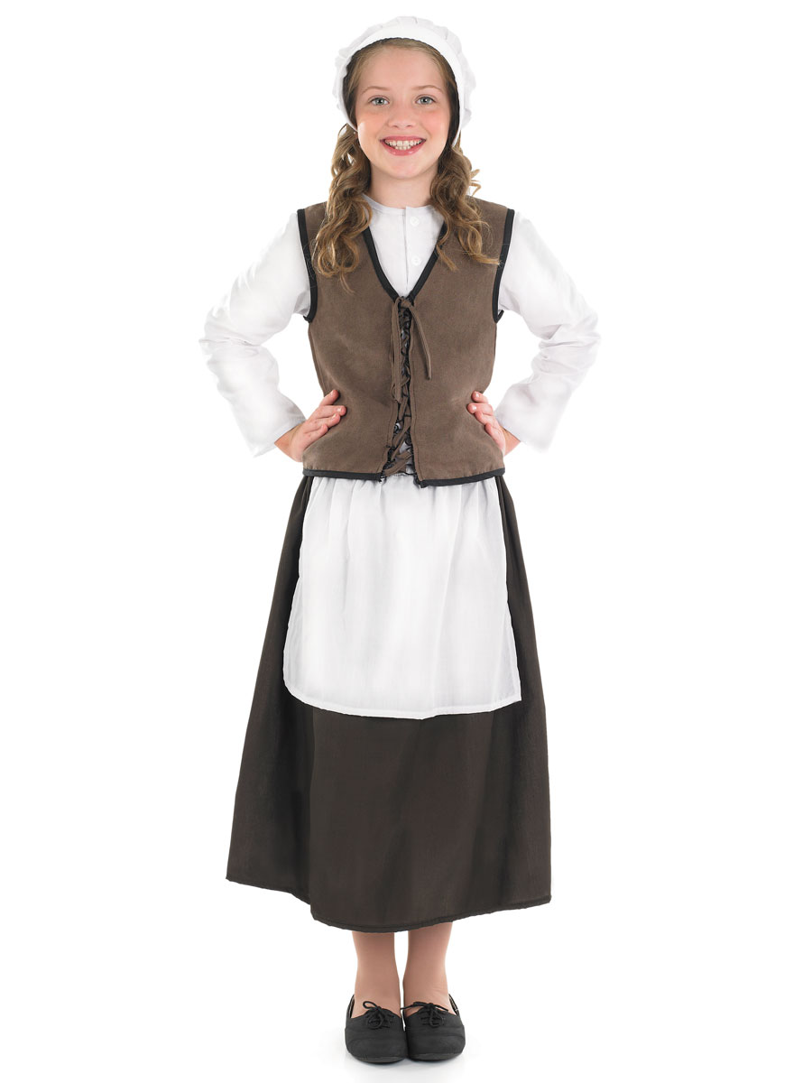 Child Tudor Kitchen Girl Costume - FS3460 - Fancy Dress Ball