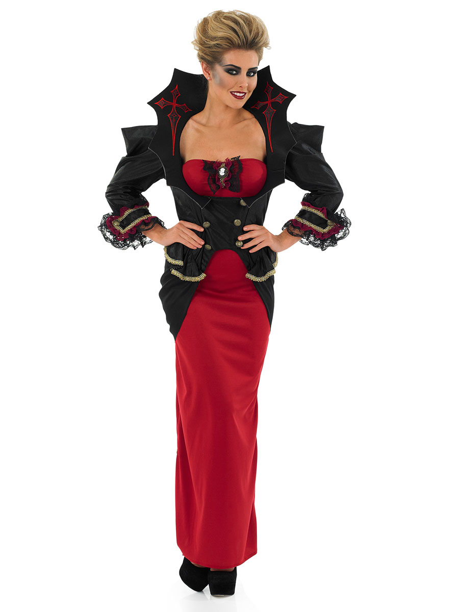 Dark Temptress Vampire Vampiress Gothic Medieval Halloween Plus Costume