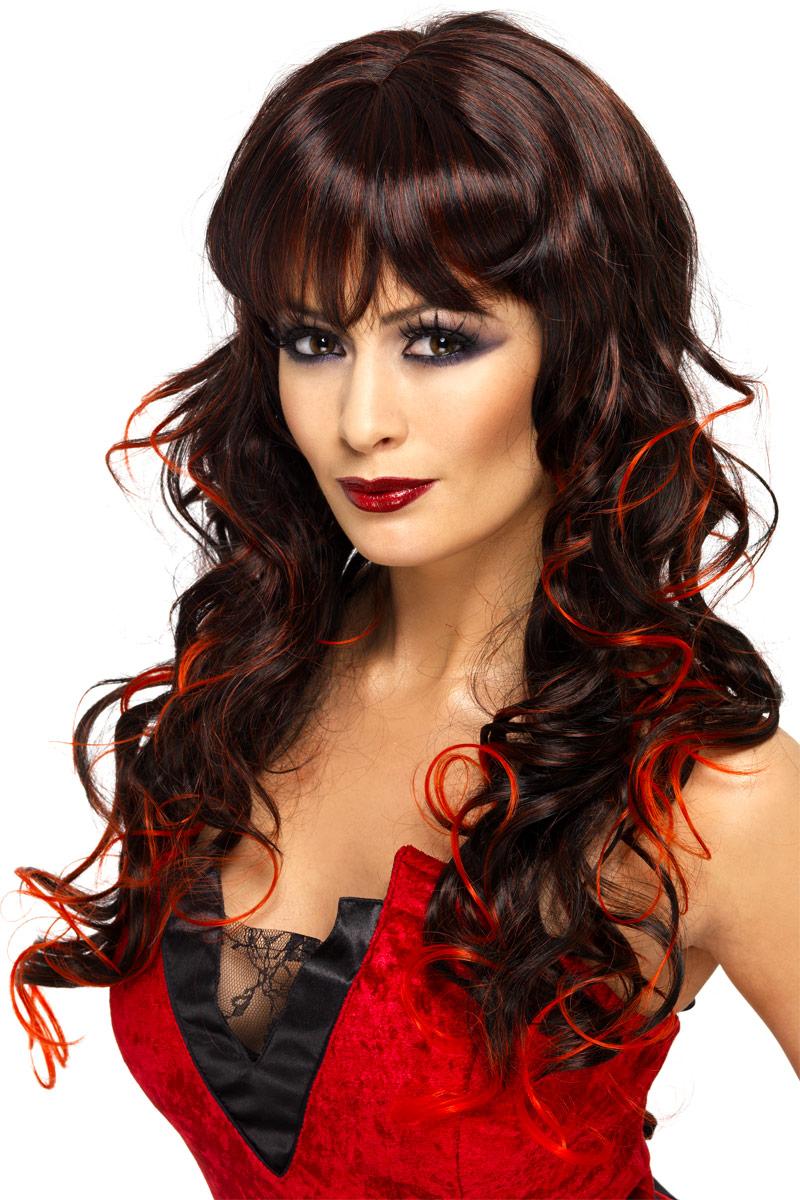 Adult Black Amp Red Vixen Wig 33228 Fancy Dress Ball