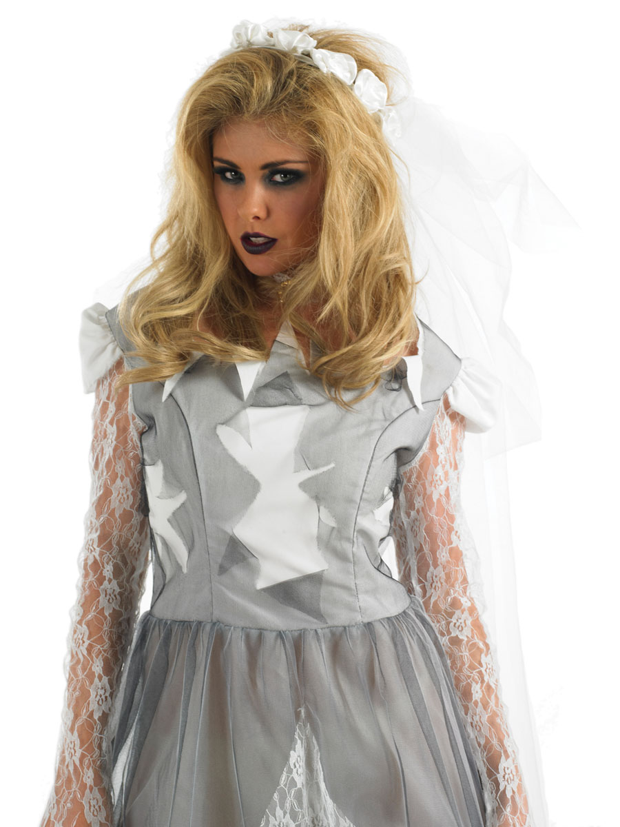 adult white corpse bride costume fs corpse bride wedding dress Adult White Corpse Bride Costume Back View VIEW FULL IMAGE