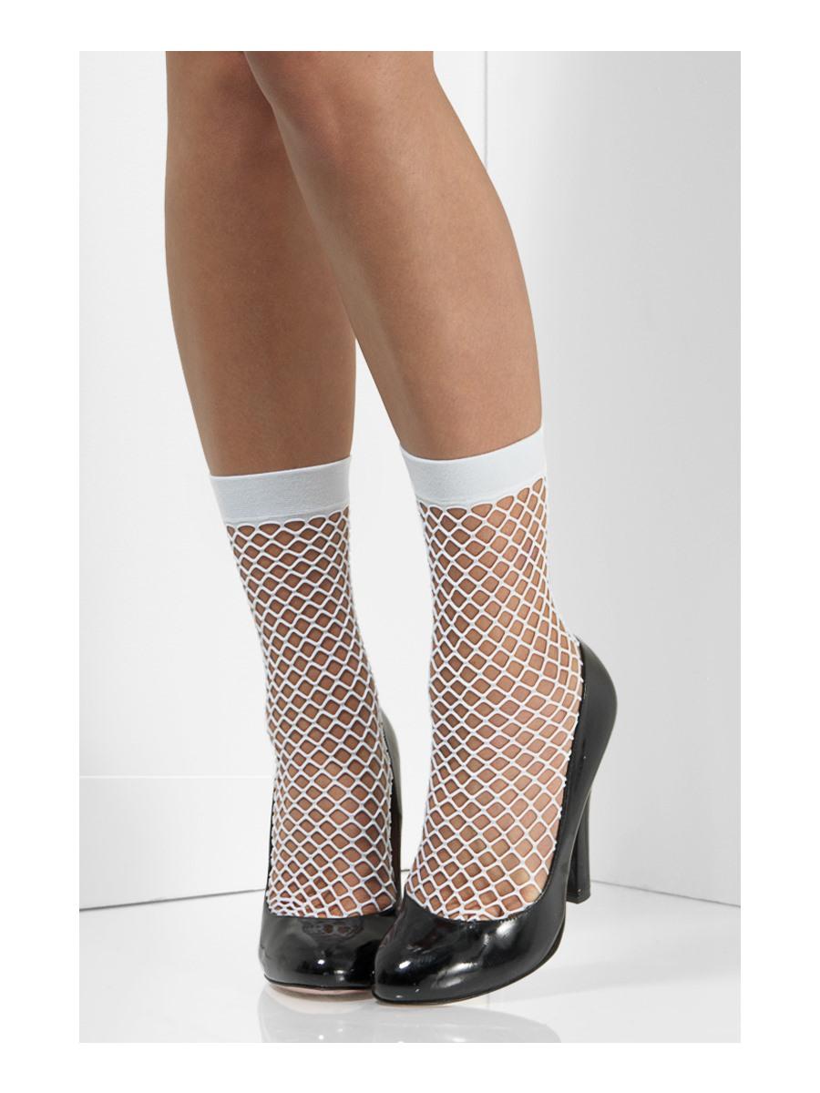 white fishnet socks 48706 fancy dress ball